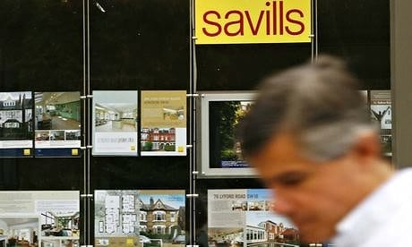 A branch of Savills: the estate agent has added its voice to warnings about the UK housing marketi Photograph: Luke MacGregor / Reuters/REUTERS